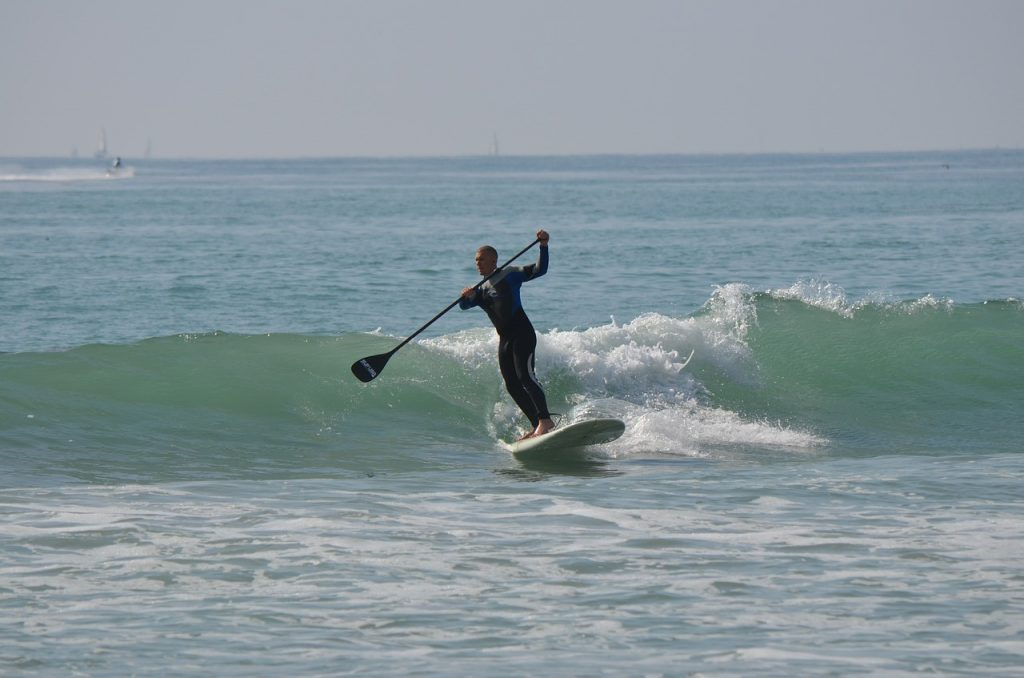 stand up paddle surfing, standup paddleboarding, man
