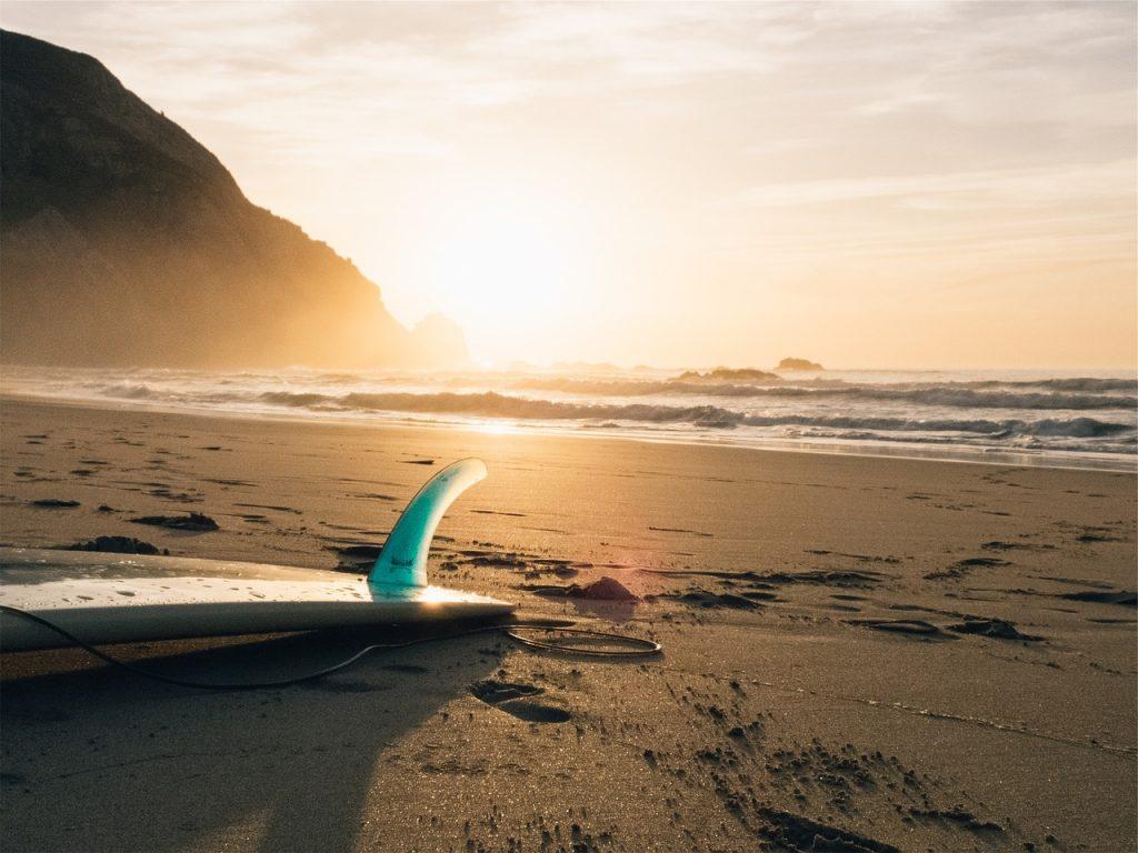 surf, board, beach