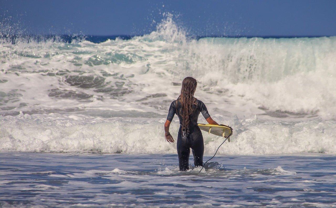 surfer, surfboard, sea